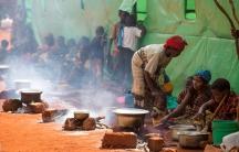 Burundi refugee camp