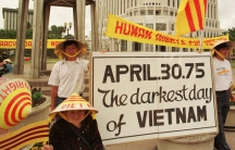 Several dozen Vietnamese demonstrators protest against what they described as human rights violations in the former South Vietnam on April 30, 1998 at city hall in Orlando, Florida.