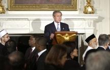 George W. Bush at an Iftar dinner.