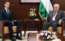 Palestinian President Mahmoud Abbas meets with White House senior advisor Jared Kushner in the West Bank City of Ramallah on June 21, 2017.