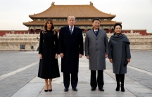 Presidents Trump and Xi and their wives in China