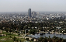 An aerial view of Baghdad, Iraq March 4, 2018.