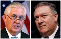 A combination photo shows US Secretary of State Rex Tillerson and CIA Director Mike Pompeo