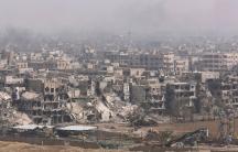 The Yarmouk Palestinian camp near Damascus, Syria, April 28, 2018.