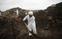 Man looks for a missing loved one in Fukushima