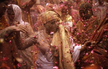 Vrindavan widows Holi