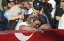 Relative mourns over death after military coup in Turkey