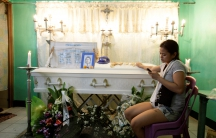 Jennelyn Olaires, the partner of Michael Siaron whom police said was killed by a vigilante group in Manila.