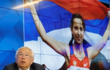 Vladimir Lukin, president of the Russian Paralympic Committee, speaks during a news conference after Russia was barred from taking part in next month's Rio Paralympics, in Moscow, Russia, August 8, 2016.