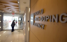 The entrance to the head office of the World Anti-Doping Agency (WADA) in Montreal
