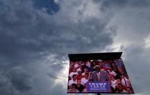 Trump rally on TV