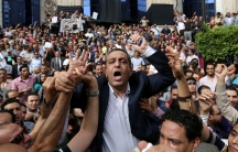 Egypt journalists protests