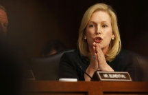 Sen. Kirsten Gillibrand (D-N.Y.) speaks about pending legislation regarding sexual assaults in the military in front of the Senate Armed Services Committee on June 4, 2013.