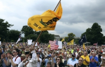 """The crowd cheers during a Tea Party rally to """"Audit the IRS"""" in front of the U.S. Capitol in Washington June 19, 2013"""