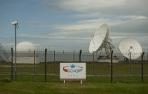 Satellite dishes at GCHQ's outpost at Bude, close to where trans-Atlantic fiber-optic cables come ashore in Cornwall, southwest England.