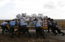 Relief supplies for Haiyan victims