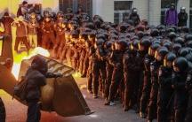 Protesters in Kiev, Ukraine