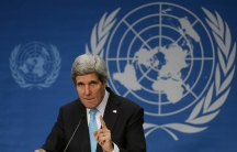 US Secretary of State John Kerry addresses a news conference after the Geneva-2 peace talks in Montreux January 22, 2014.