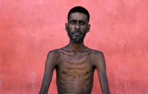 One of the 'boat people.' A Bangladeshi migrant allowed into Indonesia after weeks at sea.