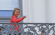 European Union foreign policy chief Federica Mogherini during nuclear talks with Iran in Vienna, Austria, July 13, 2015.
