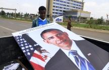Ethiopians prepared billboards to welcome U.S. President Barack Obama to their capital Addis Ababa.