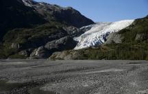 A general view of the Exit Glacier is seen at Kenai Fjords National Park in Seward, Alaska, September 1, 2015.