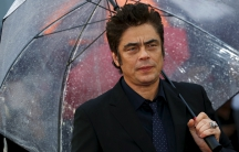 "Actor Benicio Del Toro arrives for the UK premiere of ""Sicario"" at Leicester Square in London"