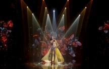 Crimean Tatar singer Susana Jamaladinova, known as Jamala, performs during the Ukrainian national qualification for the Eurovision Song Contest outside Kiev, Ukraine, February 21, 2016.