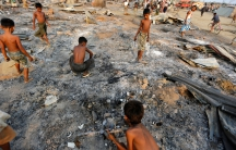 Rohingya IDP camp fires