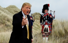 Donald Trump at a media event on the site of his golf resort, near Aberdeen, Scotland, in 2010.