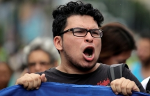 Demonstrators have accused the government of Venezuelan President Nicolas Maduro of systemic corruption.