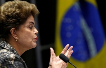 Brazil's suspended President Dilma Rousseff attends Senate on Monday in her final defense before impeachment.