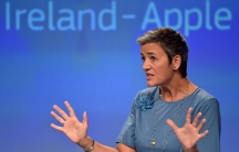 European Commissioner Margrethe Vestager in a news conference on Ireland's tax dealings with Apple Inc at the European Commission in Brussels, Belgium on Aug. 30.