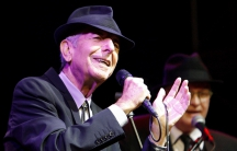Canadian singer-songwriter Leonard Cohen performs at the Coachella Music Festival in Indio, California, on April 17, 2009.