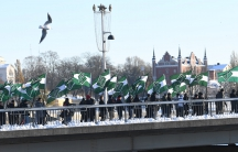The Nordic Resistance Movement (Nordiska motstandsrorelsens), a Nordic National Socialist organisation, demonstrates in central Stockholm November 12, 2016.