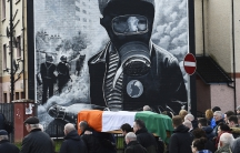 Martin McGuinness coffin