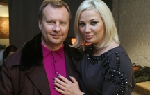 Former lawmaker of the Russian State Duma Denis Voronenkov and his wife Maria Maksakova pose for a picture in Kiev, Ukraine February 27, 2017. Voronenkov was assassinated March 23, 2017 in Kiev.