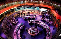 A general view shows the newsroom at the headquarters of the Qatar-based Al Jazeera English-language channel in Doha February 7, 2011.