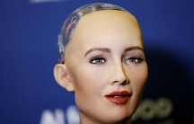 "Sophia, a robot integrating the latest technologies and artificial intelligence developed by Hanson Robotics is pictured during a presentation at the ""AI for Good"" Global Summit at the International Telecommunication Union (ITU) in Geneva, Switzerland Jun"