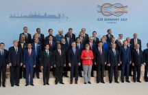 Photo of world leaders at the G20 summit in Germany