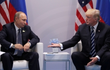 President Donald Trump meets with Russian President Vladimir Putin during the their bilateral meeting at the G20 summit in Hamburg.