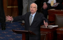 Arizonia Republican Sen. John McCain speaking on the floor of the U.S. Senate after being diagnosed with brain cancer.