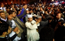 Egyptian men and Sufi Muslims practice ritualized Zikr (invocation)