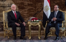 Egyptian President Abdel Fattah al-Sisi meets with with U.S. Vice President Mike Pence at the Presidential Palace in Cairo, Egypt on January 20, 2018.