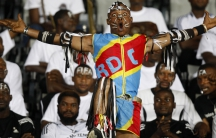 fan during a FIFA World Cup quarterfinal soccer match between Atlante and Auckland City