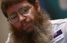 Nigel Richards of New Zealand plays scrabble at the 2011 World Scrabble Championship in Warsaw