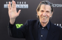 """Leonard Nimoy, cast member of the new film """"Star Trek Into Darkness,"""" poses as he arrives at the film's premiere in Hollywood on May 14, 2013."""