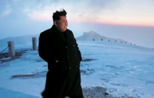 Kim Jong-Un after supposedly scaling the 9,000ft Mount Paektu one morning.