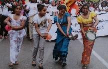 Rainey takes part in a Sri Lankan parade in Lebanon.
