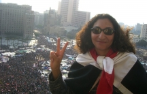 Rasha Abdulla overlooking Tahrir Square just hours before Hosni Mubarak stepped down from power.